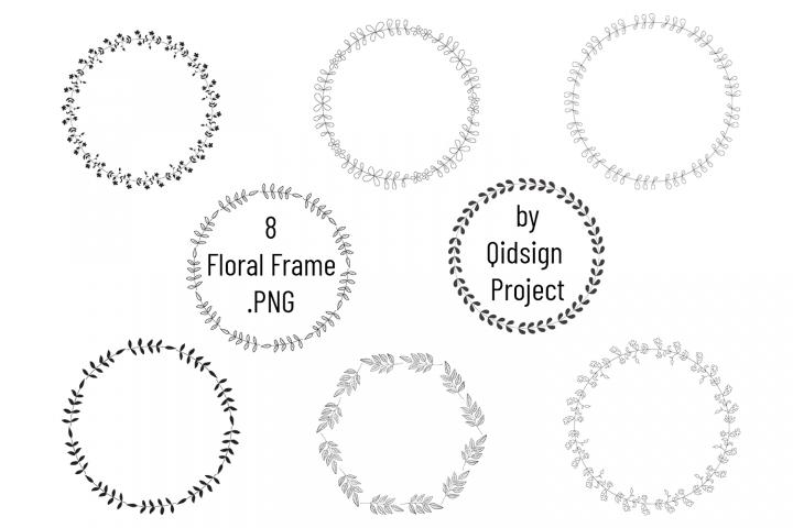 Floral Frame Clipart . PNG