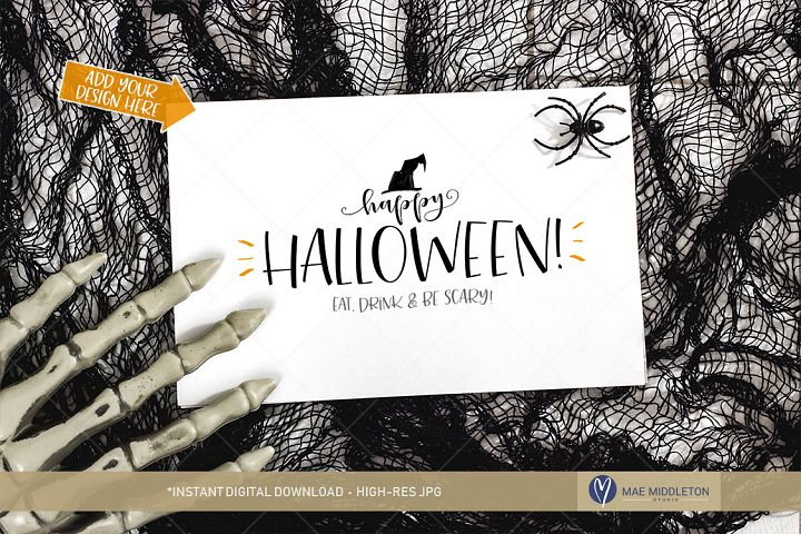 Halloween Card Craft Mockup | styled photo