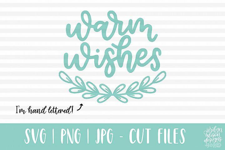 Warm Wishes, Laurel - Christmas SVG Cut File