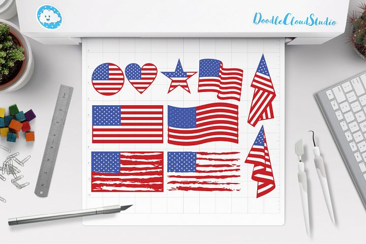 American flag SVG, Distressed USA Flag svg, Patriotic design