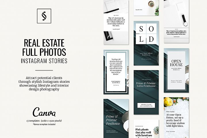 Canva Instagram Stories for Real Estate - Full Photos