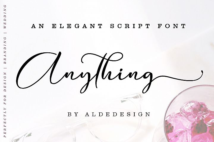 Anything Script || 8 Fonts