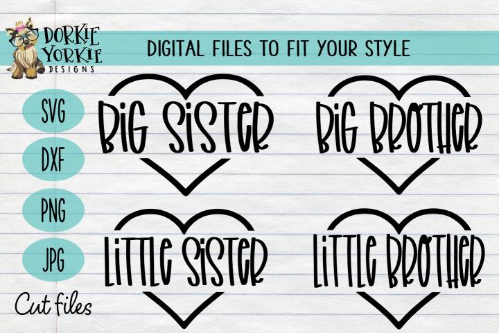 BUNDLE - Little Big Brother Sister - Family, Sibling, SVG cu