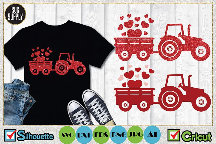 Valentine Wagon Truck SVG Cut File