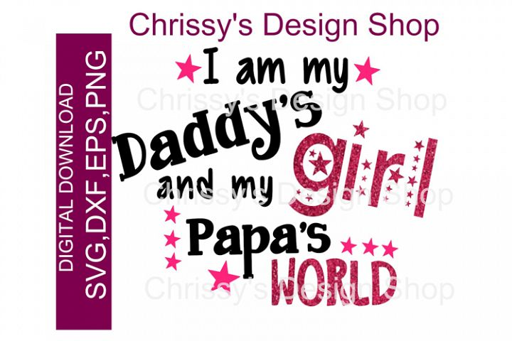 Daddys girl / Happy Fathers day SVG, DXF EPS