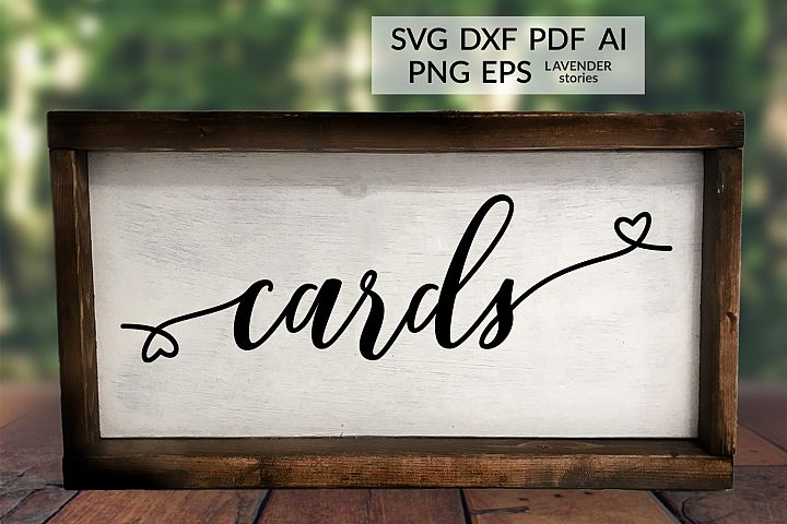 Cards - Wedding sign SVG cut file