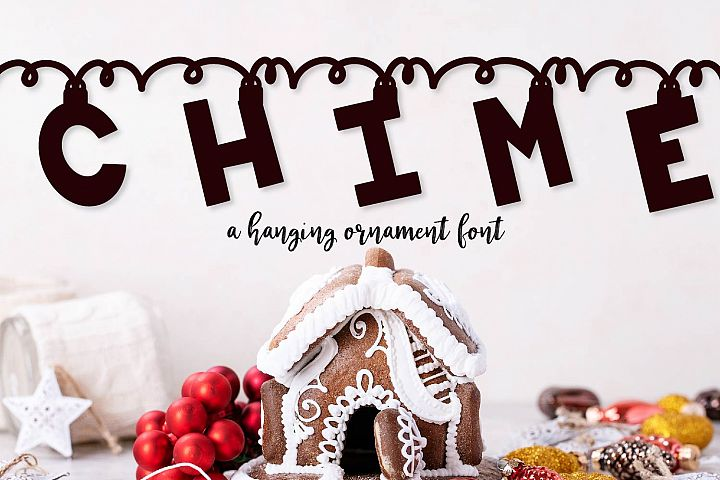 Chime - A Hanging Christmas Ornament Font