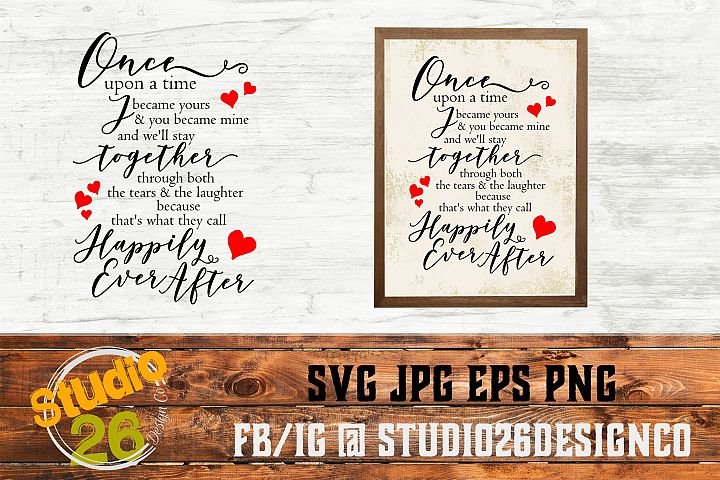 Once upon a time poem - SVG EPS PNG
