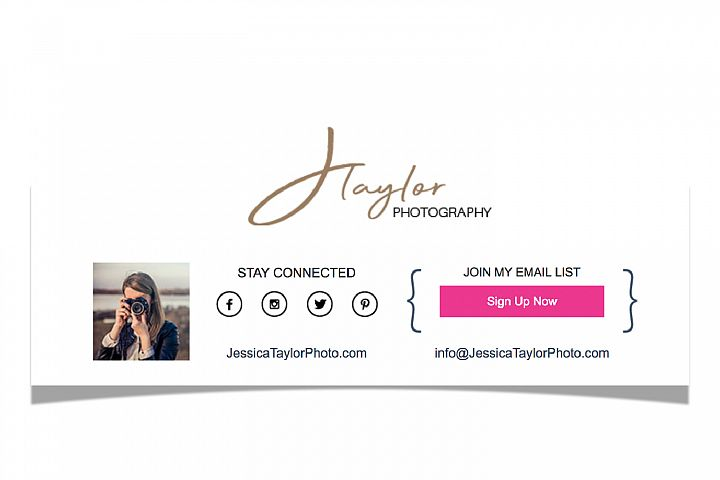 Custom HTML Email Signature Footer Template