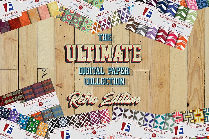 The ULTIMATE Digital Paper Collection Retro Edition.