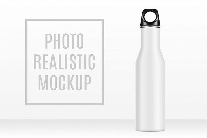 Mockup Metal Bottle