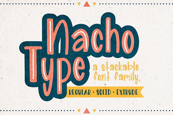 Nacho Type | A Layered Font Family