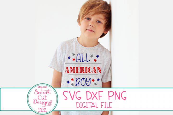All American Boy SVG, 4th Of July, Patriotic SVG, Boy SVG