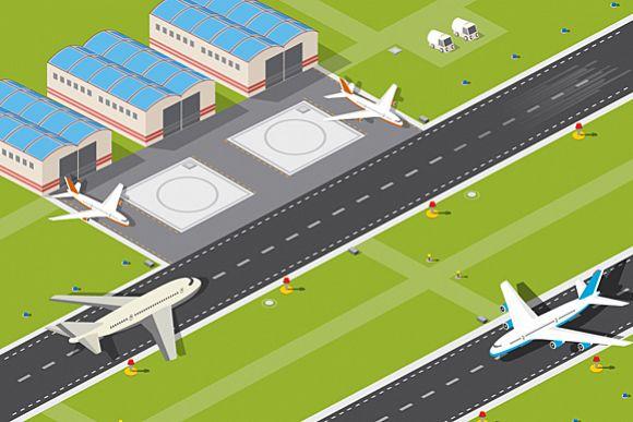 Vector Airport runway