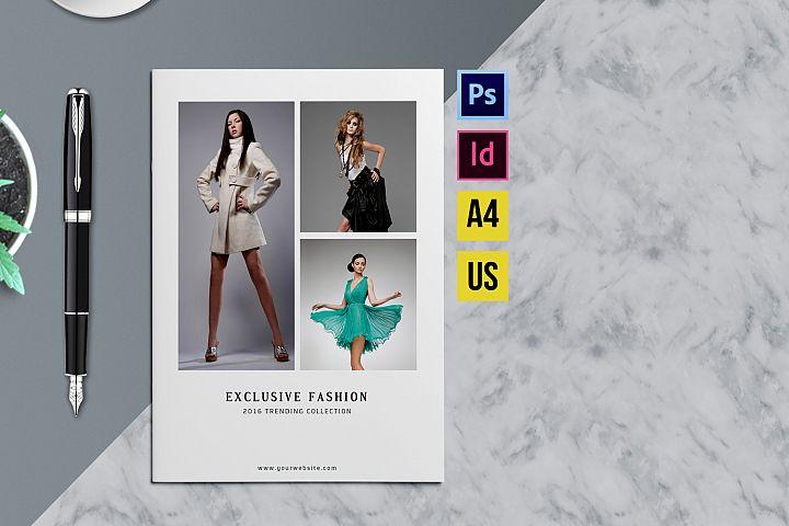Minimal Fashion Product Display Brochure/Catalog