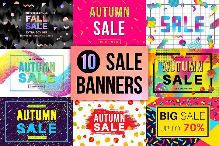 10 Autumn Sale Banners Set