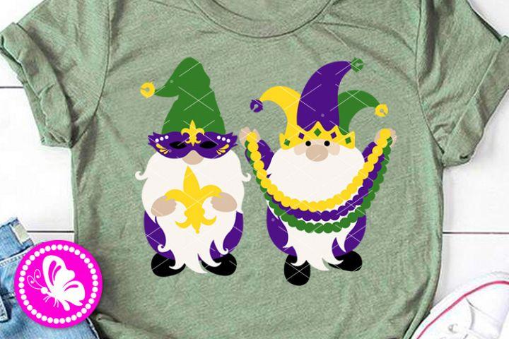 Mardi Gras Gnomes svg Mask Beads Fleur de lis Png Cricut