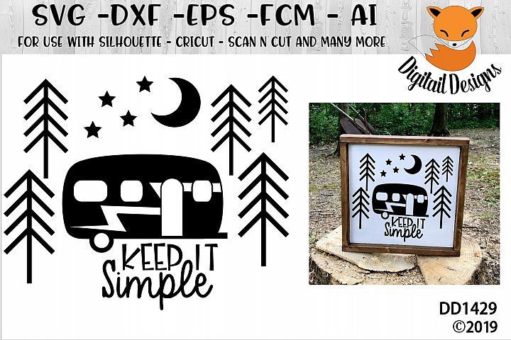 Keep it Simple Camping SVG