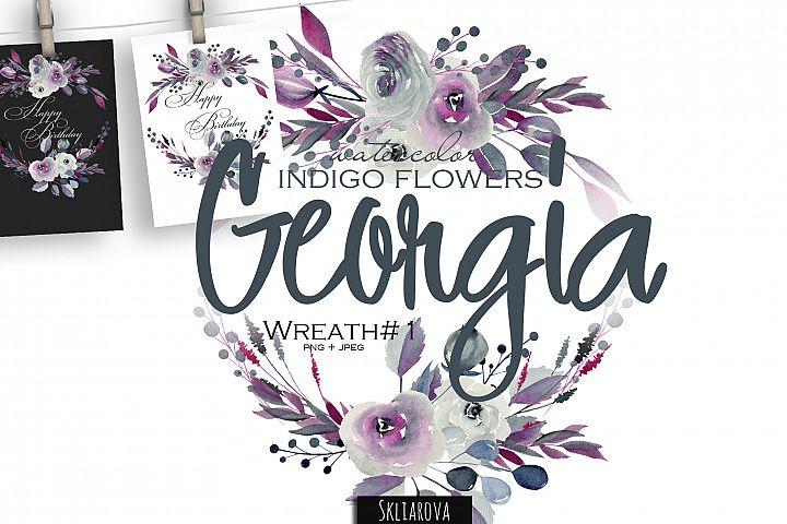 Georgia. Indigo Wreath #1.