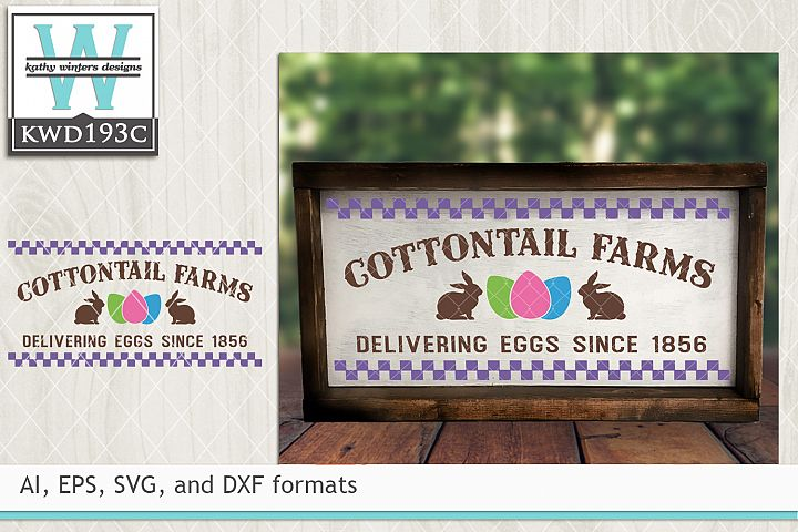 Easter SVG - Cottontail Farms