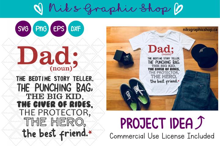 Dad Svg, The Best Dad Svg, Dad Shirt Svg, Dad Gift Svg