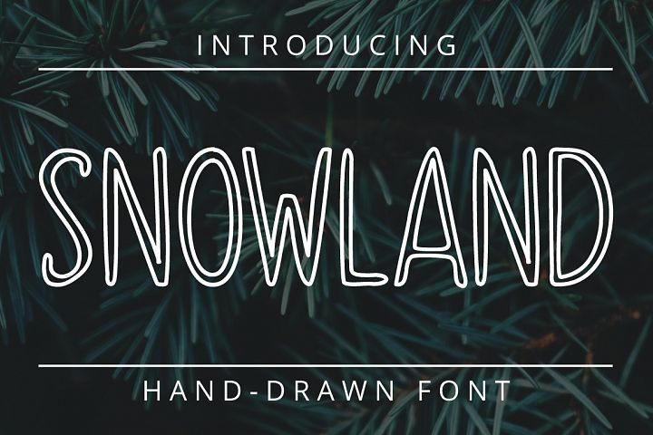 SNOWLAND - hand drawn winter font