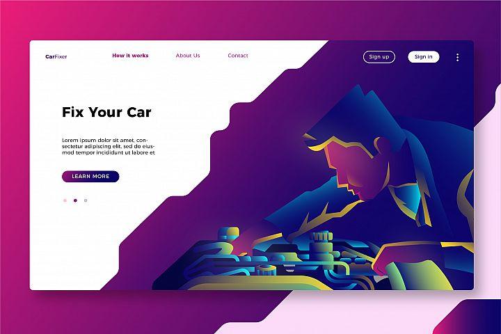Mechanic - Banner & Landing Page