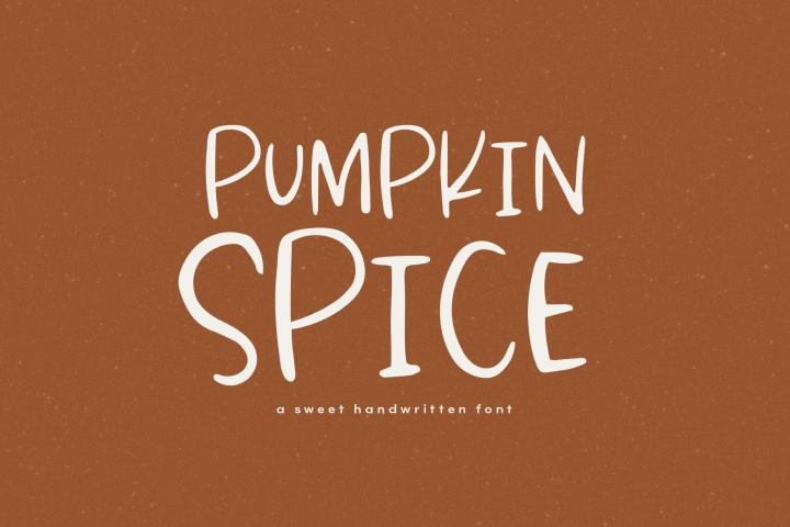 Pumpkin Spice - A Fun Handwritten Font