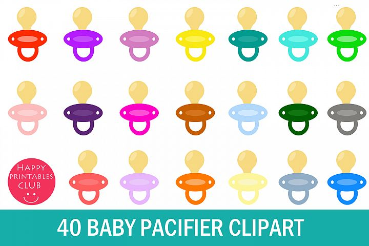 40 Baby Pacifier Clipart- Colorful Pacifier Clipart Images