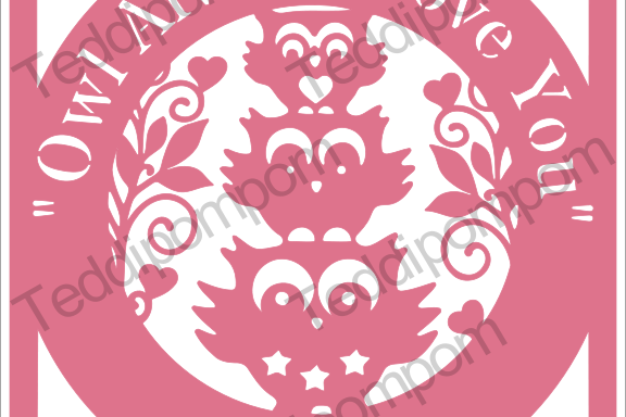 Owl Always Love You - Owl papercut SVG PNG