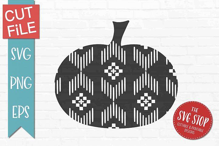 Aztec Pumpkin Pattern- SVG, PNG, EPS