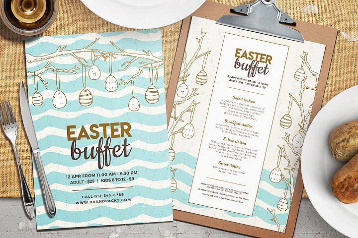 Easter Menu Template Vol.2