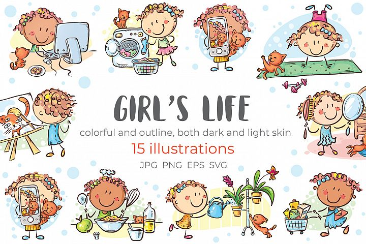 Girls life - everyday activities, daily routine