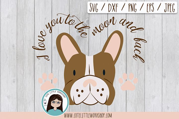 Boston terrier brown svg, dxf, png, eps