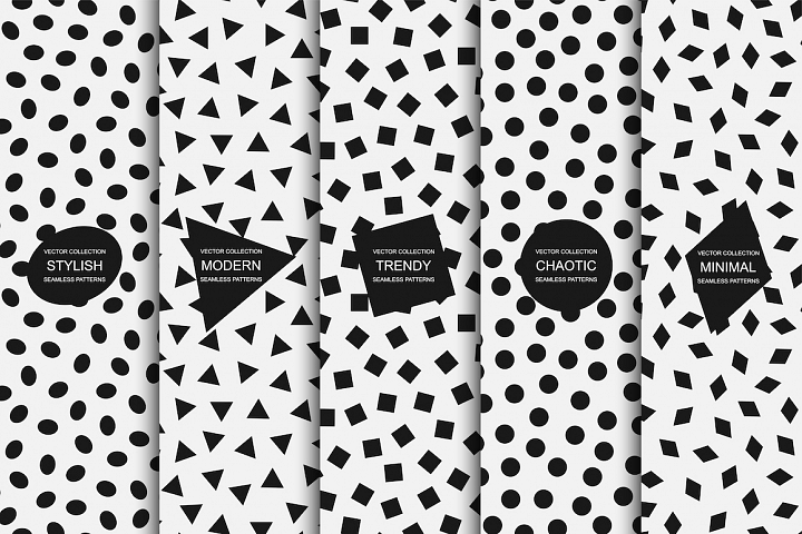 Modern seamless minimal patterns