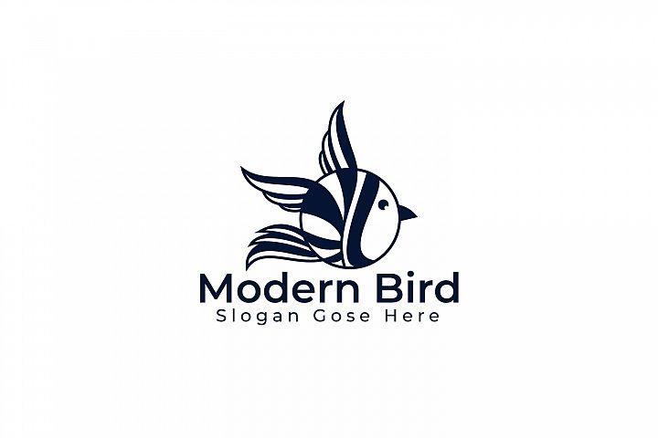 Modern Bird Logo Design.