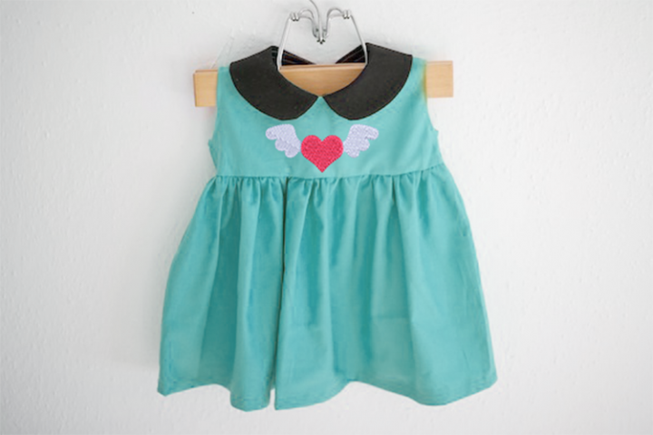 Mini Heart with Wings Embroidery Design
