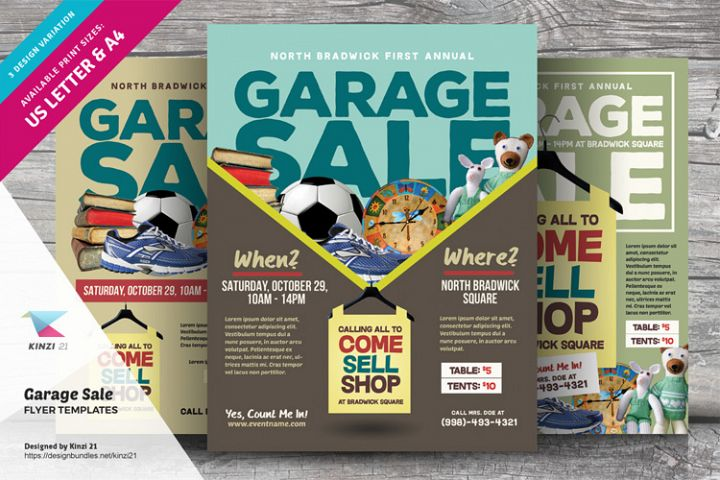 Garage Sale Flyer Templates