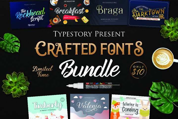 Crafted Font Bundle