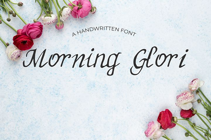 MorningGlori Font