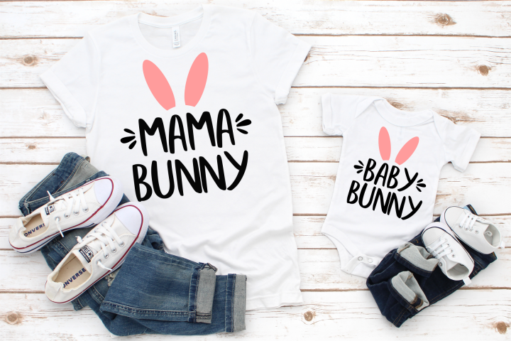 Easter SVG Mama Bunny SVG Baby Bunny SVG