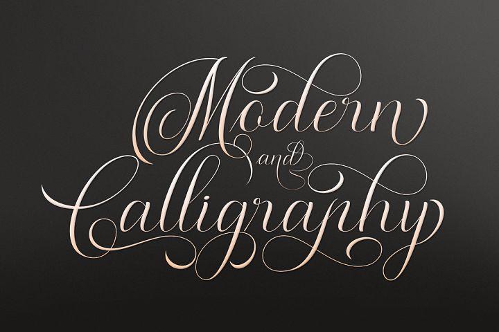 Moderena Script || 3 Style