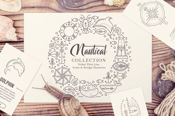 Nautical Collection  - Free Design of The Week Font