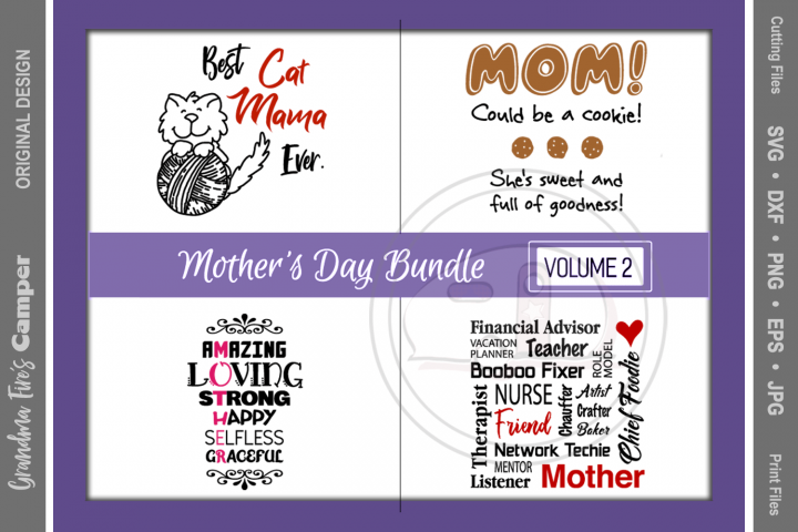 Mothers Day SVG Bundle, Vol 2
