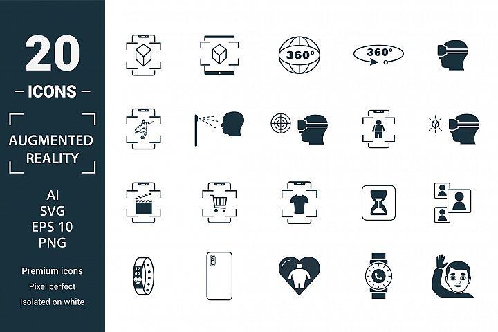 Augmented reality icon set.