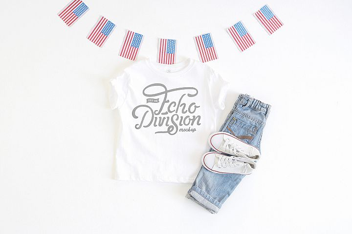 4th of July Mockup- Toddler Jersey Tee - 3321- white