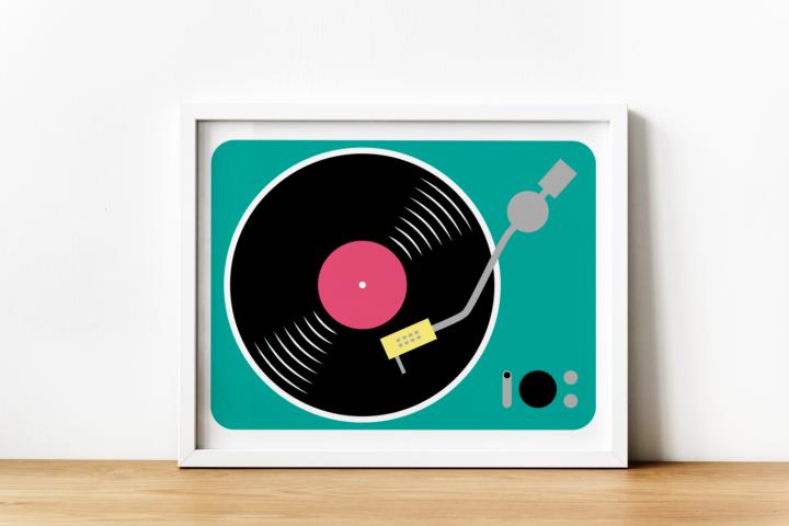 Record Player SVG Design