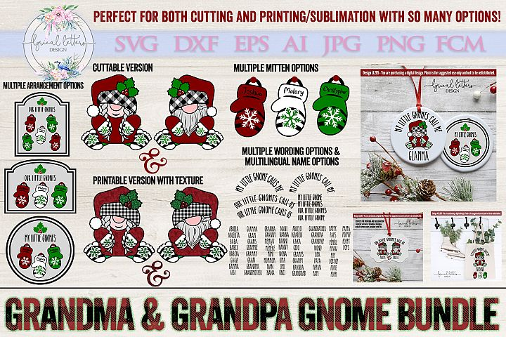 NEW! Grandma and Grandpa Gnome SUBLIMATION and SVG LL285