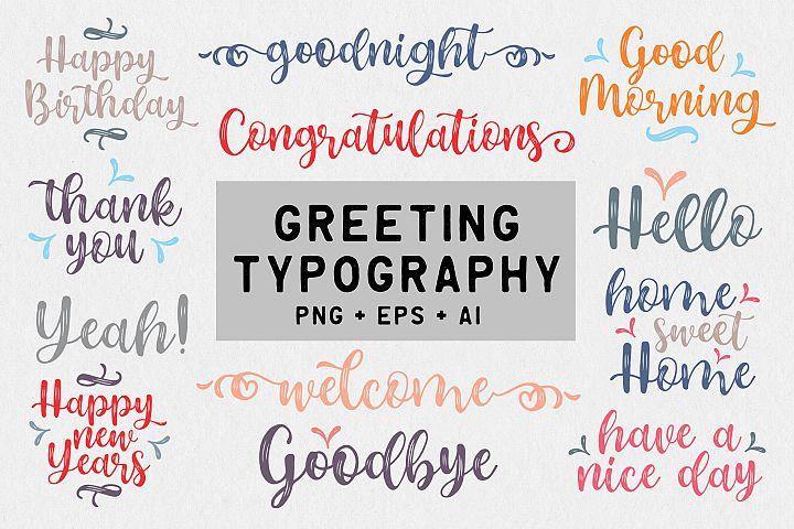 Greeting Typography