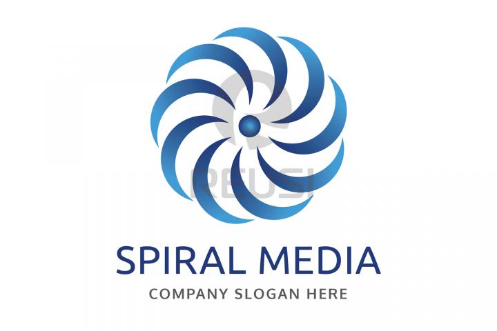 Spiral Media Logo Template